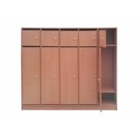 Шкаф детский 5-ти секционный для одежды с АНТРЕСОЛЬЮ «ЭКСКЛЮЗИВ» ЛДСП БУК