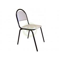 Офисный стул СМ 8 V5 (к/з белый мрамор, каркас черный)