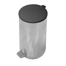 Ведро для мусора с педалью хром (40 л)