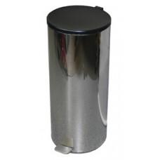 Ведро для мусора с педалью хром (50 л)