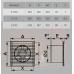 E 100 S C, Вентилятор осевой c антимоскитной сеткой, обратным клапаном D100