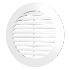 10РК, Решетка вентиляционная круглая D130 с фланцем D100