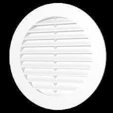 12РКС, Решетка вентиляционная круглая с пластиковой сеткой D150 с фланцем D125