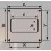 620НПП, Накладка торцевая 264х119 для прямоугольного воздуховода 60х204