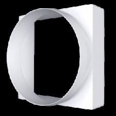 09КВ, Соединитель квадратного сечения 90х90 с круглым воздуховодом D100
