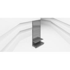 Стеллаж пристенный перфорированный  L=665 мм H=2250 мм