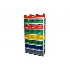 Комплектация 4 стеллажа СТ для хранения ящиков V3 и V4