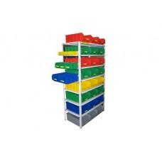 Комплектация 2 стеллажа СТ для хранения ящиков V3 и V4