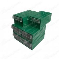 Пластиковый короб Стелла С2 зеленый/прозрачный
