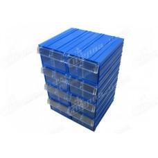 Пластиковый короб Стелла С2 синий/прозрачный