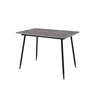Стол Dikline L122 Дуб Бардолино серый (ЛДСП EGGER)/Опоры черный