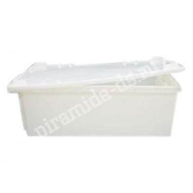Р-266 Ящик для мясомолочной продукции №2 с крышкой раз 600х400х195