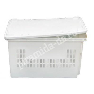 Р-270 Ящик для хлебобулочной продукции №3 с крышкой 600х400х300